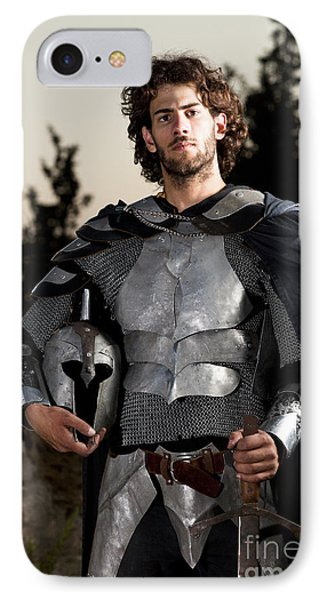 Knight In Shining Armour Phone Case by Yedidya yos mizrachi