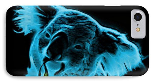 Koala Pop Art - Cyan IPhone Case by James Ahn