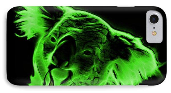 Koala Pop Art - Green Phone Case by James Ahn