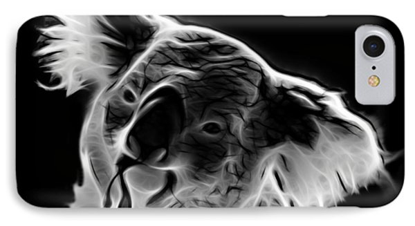 Koala Pop Art - Greyscale IPhone Case by James Ahn