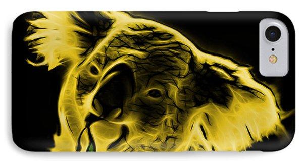 Koala Pop Art - Yellow Phone Case by James Ahn