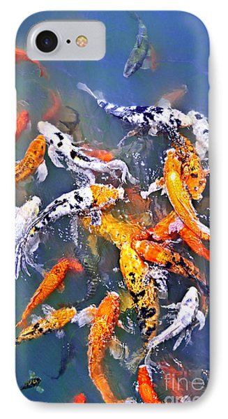 Koi Fish In Pond Phone Case by Elena Elisseeva