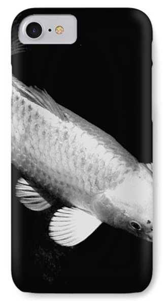 Koi In Monochrome Phone Case by Don Mann