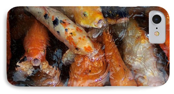 Koi In Pond IPhone Case by Peter Mooyman