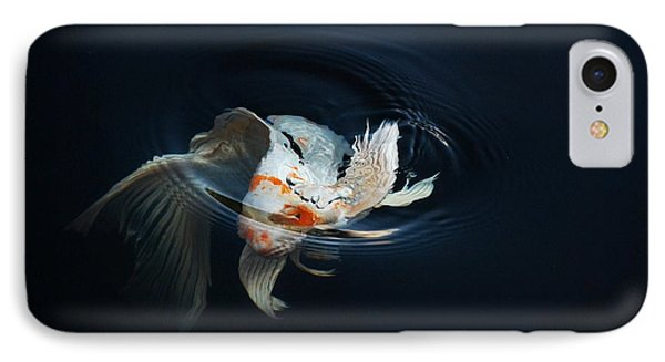 Koi Rising In The Moonlight Phone Case by Don Mann