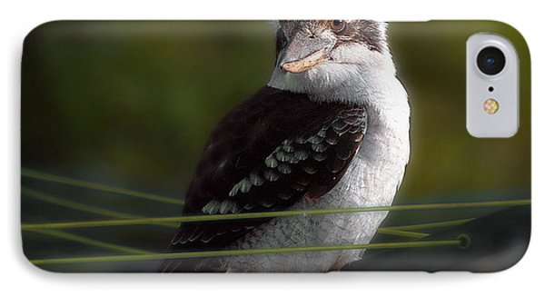 IPhone Case featuring the photograph Kookaburra Hoists On The Hills by Vicki Ferrari