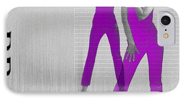 Kristina In Purple IPhone Case by Naxart Studio