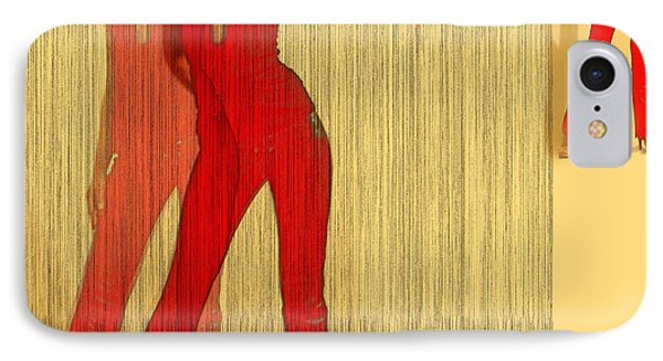 Kristine In Red IPhone Case by Naxart Studio