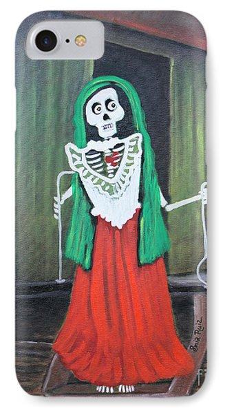 La Dama Phone Case by Sonia Flores Ruiz