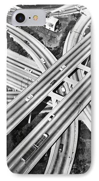 La Freeway Interchange IPhone Case by Underwood Archives