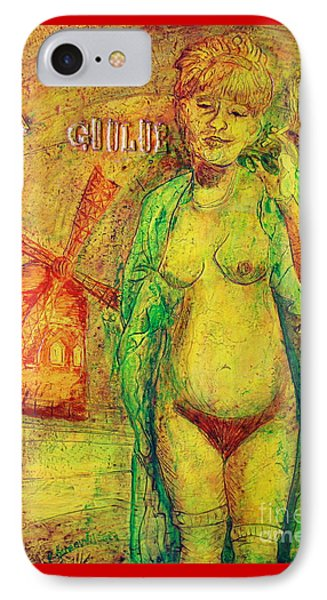 IPhone Case featuring the painting La Goulue by D Renee Wilson