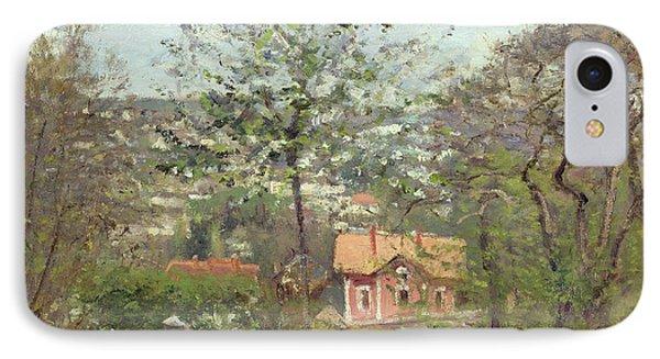 La Maison Rose Phone Case by Camille Pissarro