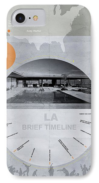 La Poster Phone Case by Naxart Studio