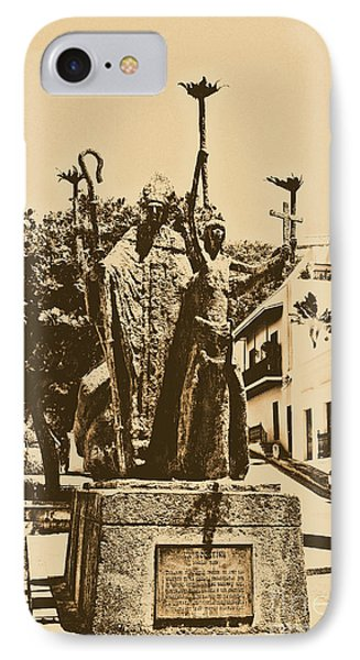 La Rogativa Sculpture Old San Juan Puerto Rico Rustic Phone Case by Shawn O'Brien