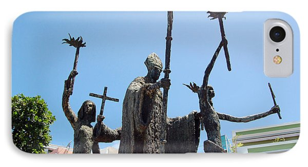 La Rogativa Statue Old San Juan Puerto Rico Phone Case by Shawn O'Brien