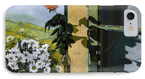 La Rosa Alla Finestra Phone Case by Guido Borelli