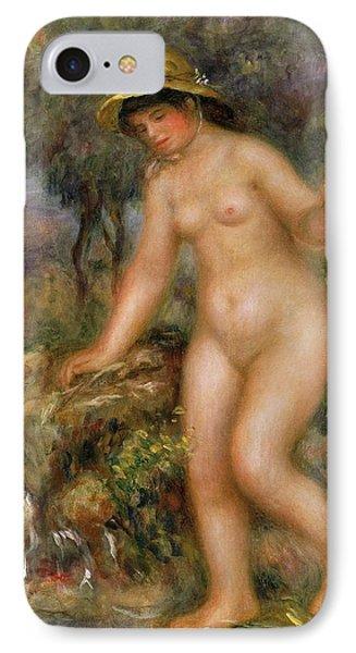 La Source Or Gabrielle Nue IPhone Case by Pierre Auguste Renoir