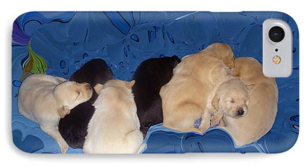 Lab Pups 1 Phone Case by Aimee L Maher Photography and Art Visit ALMGallerydotcom