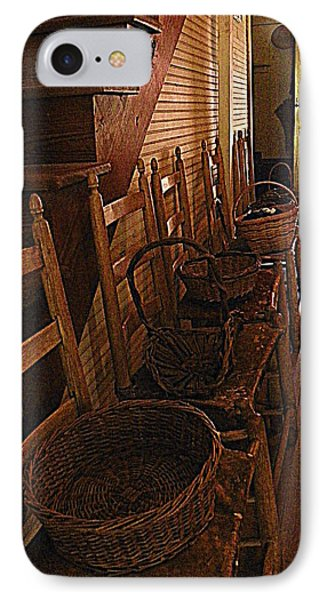 Ladder Backs And Baskets I Phone Case by Sheri McLeroy