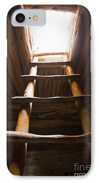 Ladder Of A Native American Cliff Dwelling Phone Case by Bryan Mullennix