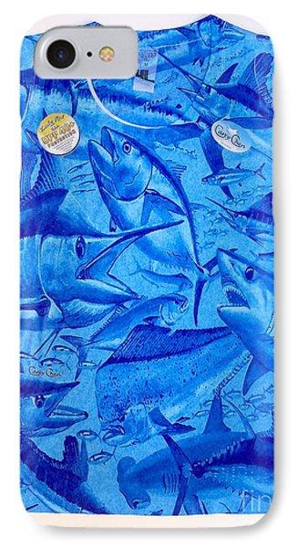 Ladies Gamefish Collage Shirt IPhone Case by Carey Chen
