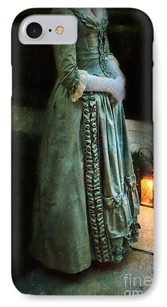 Lady By Lantern Light Phone Case by Jill Battaglia
