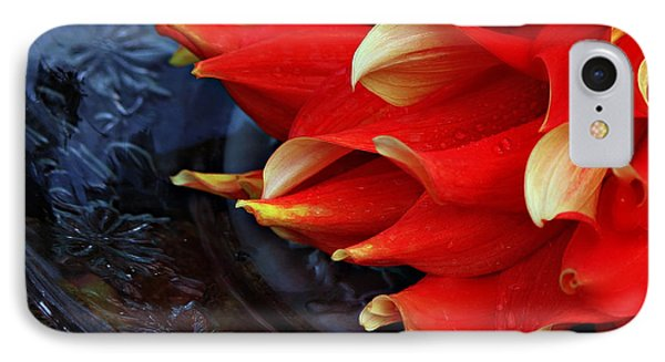 Lady In Red IPhone Case by Jeanette C Landstrom