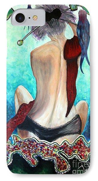 Lady In Red Phone Case by Jolanta Anna Karolska