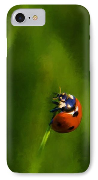 IPhone Case featuring the painting Lady In Red by Steven Richardson