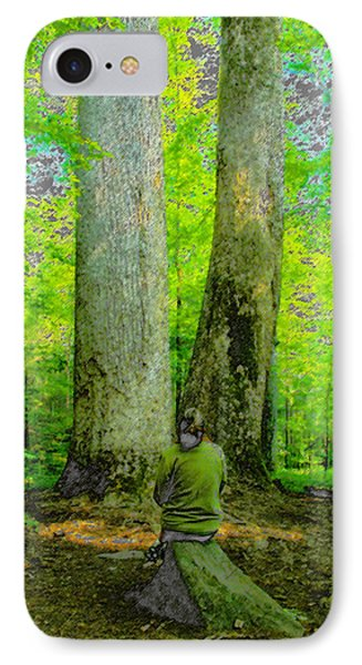 Lady In The Woods Phone Case by David Lee Thompson