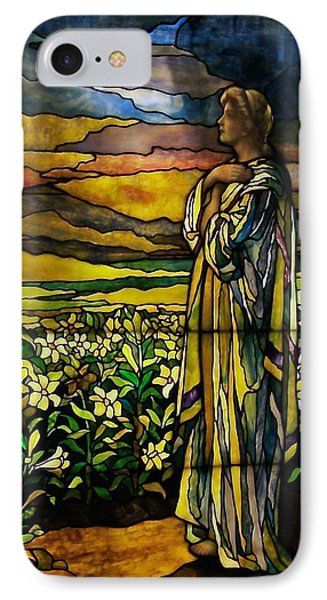Lady Stained Glass Window Phone Case by Thomas Woolworth