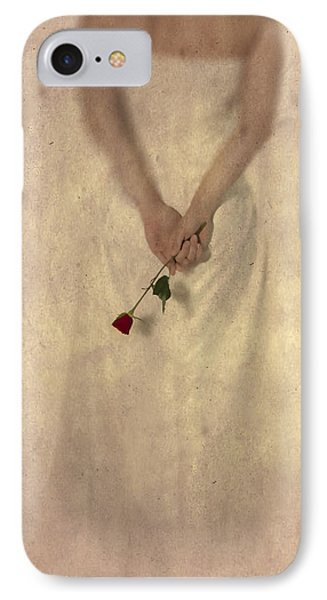 Lady With A Rose Phone Case by Joana Kruse