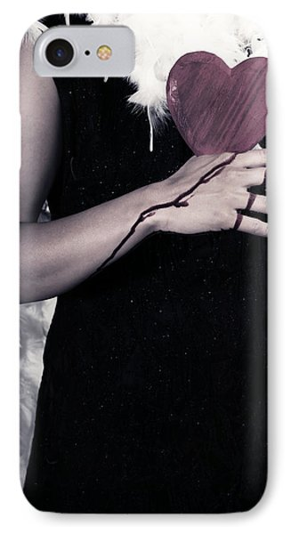 Lady With Blood And Heart IPhone Case by Joana Kruse