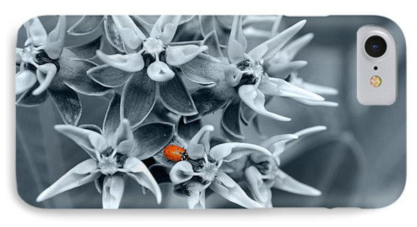 Ladybug Flower IPhone Case by Rebecca Margraf
