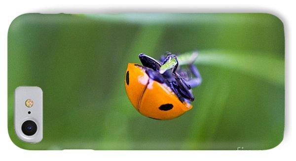 Ladybug Topsy Turvy Phone Case by Donna Munro