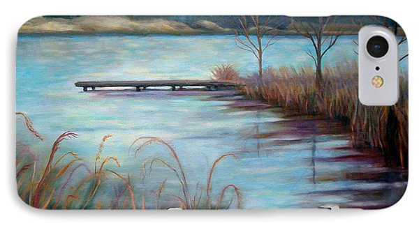 IPhone Case featuring the painting Lake Acworth Dock by Gretchen Allen