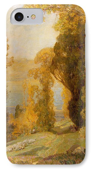 Lake Bourget From Mont Revard  IPhone Case by Sir Alfred East