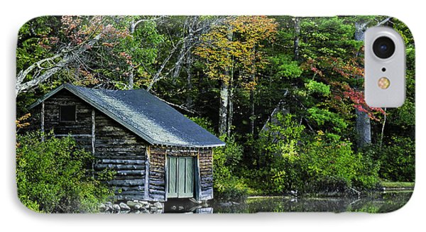 IPhone Case featuring the photograph Lake Chocoura Boathouse by Betty Denise