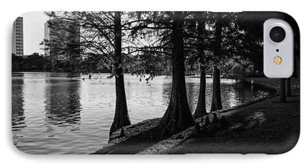 Lake Eola Water Edge IPhone Case by Lynn Palmer