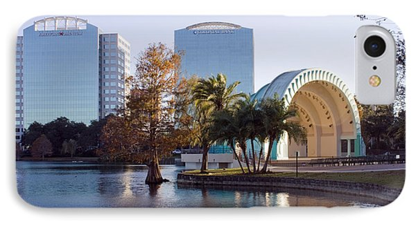Lake Eola's  Classical Revival Amphitheater Phone Case by Lynn Palmer