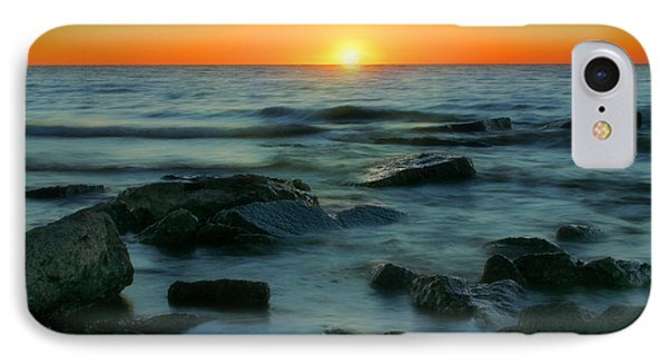 IPhone Case featuring the photograph Lake Erie Sunset by Cindy Haggerty