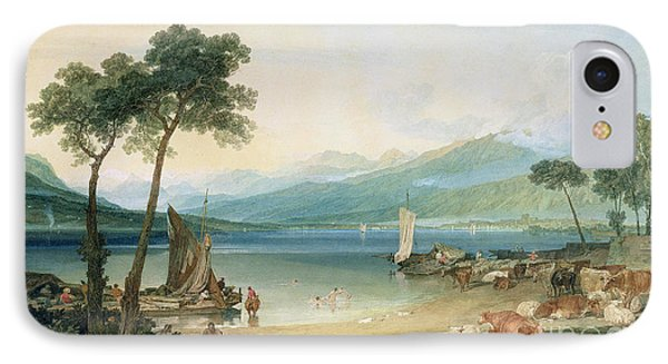 Lake Geneva And Mont Blanc IPhone Case