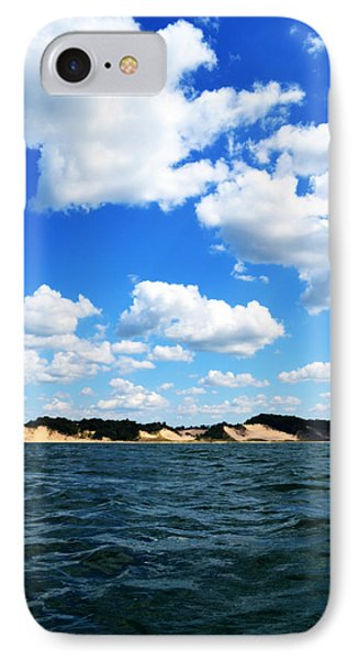 Lake Michigan Shore With Clouds Phone Case by Michelle Calkins
