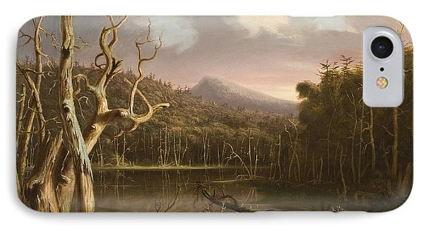 Lake With Dead Trees  IPhone Case by Thomas Cole