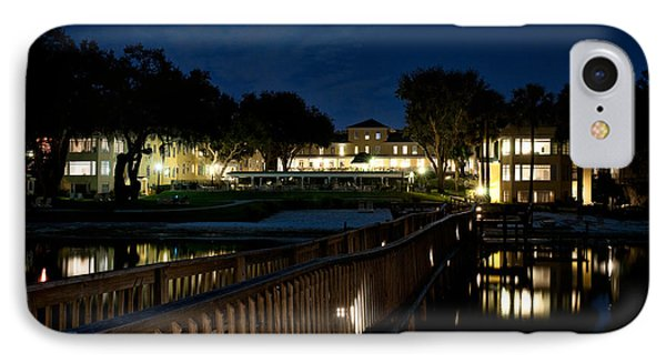 Lakeside Inn At Night Phone Case by Christopher Holmes