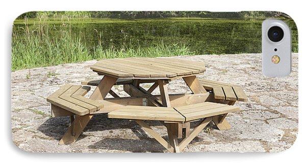 Lakeside Picnic Table Phone Case by Jaak Nilson