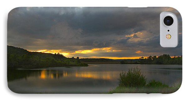 IPhone Case featuring the photograph Lakeside Sunset by Cindy Haggerty