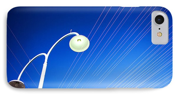 Lamp Post And Cables IPhone Case by Yew Kwang