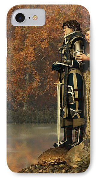 Lancelot And Guinevere Phone Case by Daniel Eskridge