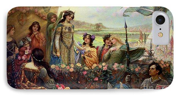 Lancelot And Guinevere Phone Case by Herbert James Draper